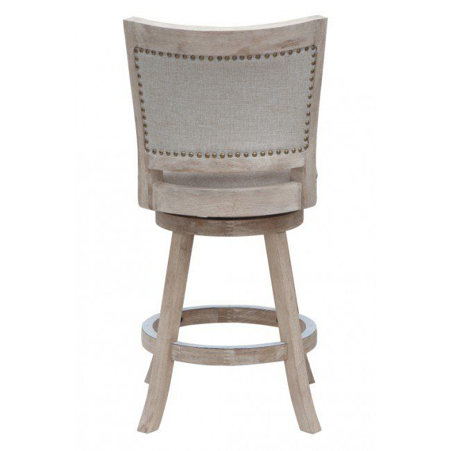 Boraam 24 Inch Melrose Counter Stool White 76624