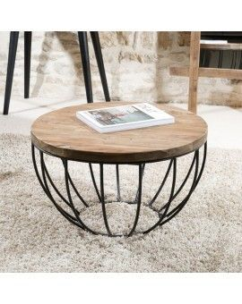 table basse ronde noire 60x60 tinesixe deco int rieur pinterest table basse table basse. Black Bedroom Furniture Sets. Home Design Ideas