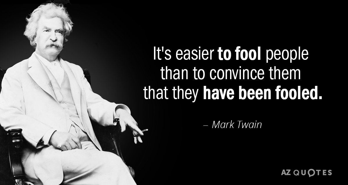 Mark Twain quote: How easy it is to make people believe a ...