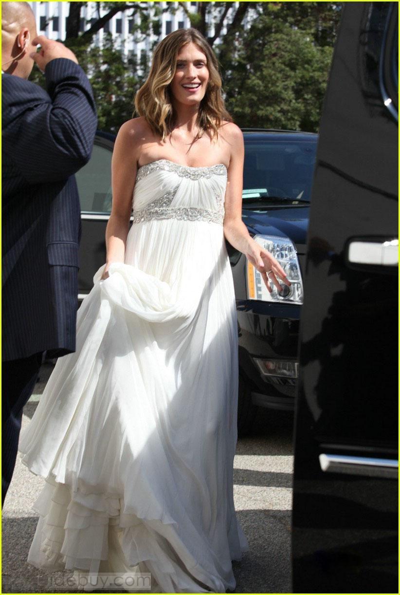 Famous wedding dresses  Empire Strapless Floorlength Beaded u Ruffles Wedding Dresses