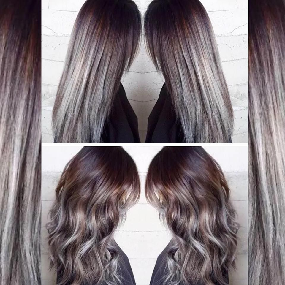 Charcoal to Icy, Silvery Blue Color Melt   Hair Colors Ideas ...