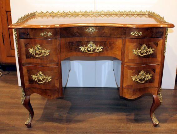 schreibtisch nu baumfurnier dresdner barock um 1850 dresdner barock pinterest barock. Black Bedroom Furniture Sets. Home Design Ideas