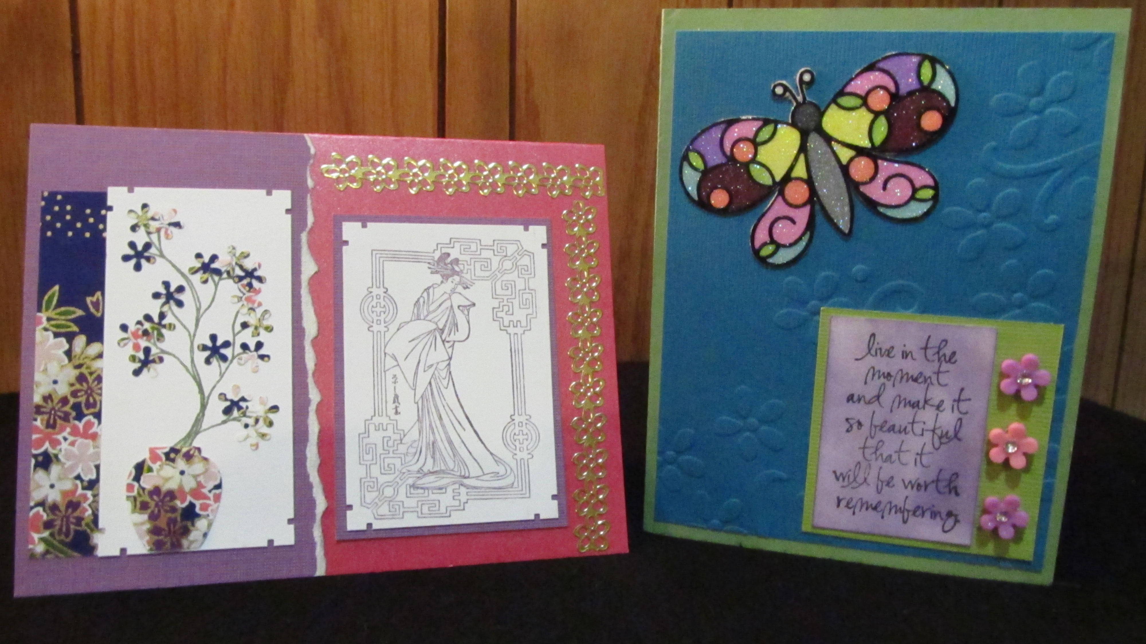 Flower and Butterfly Cards