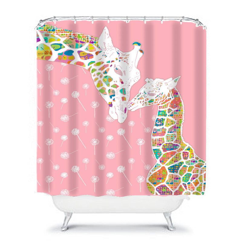 Toddler Girl Shower Curtain Pink Bathroom Decor For Girls