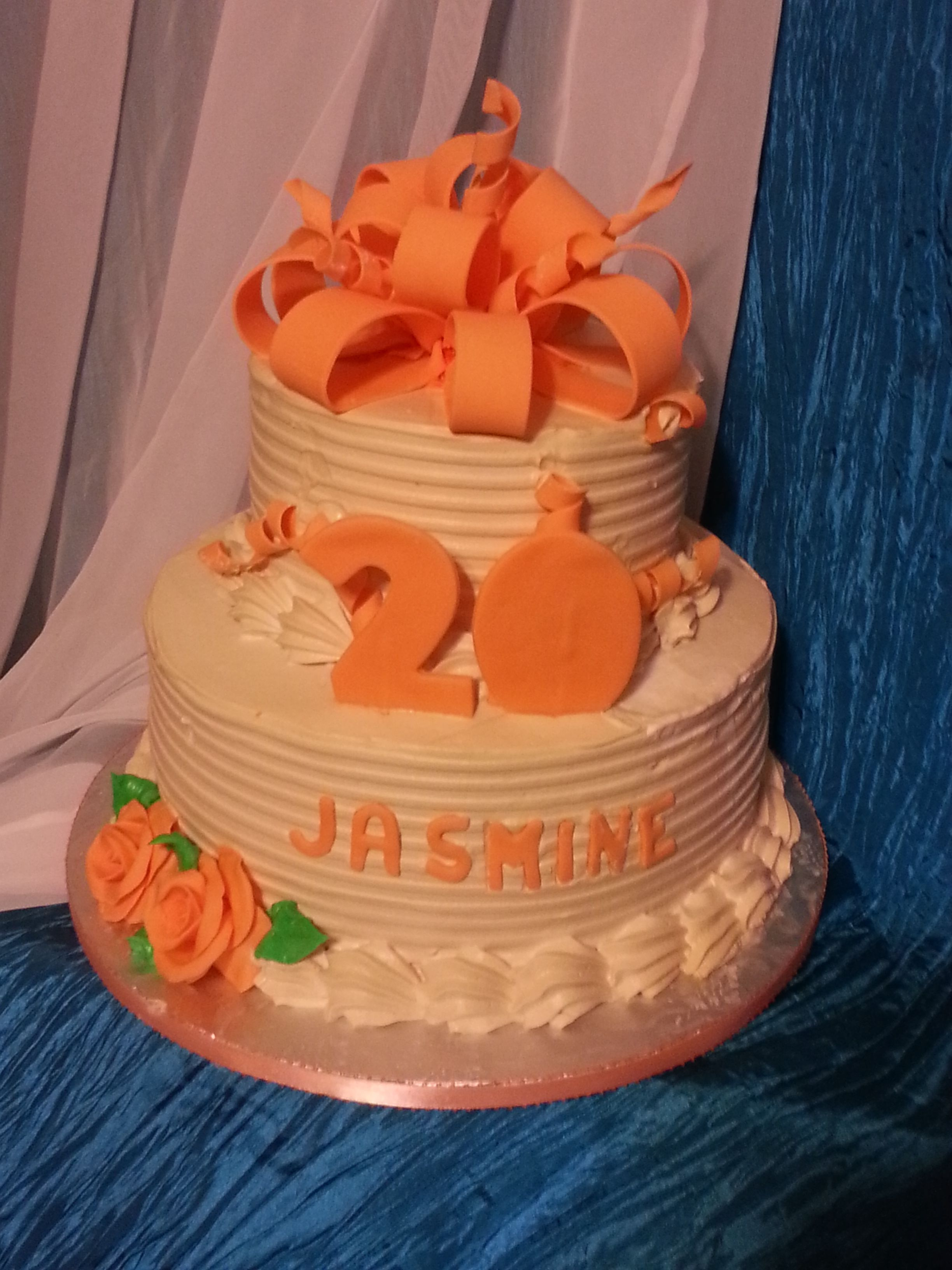 Happy Birthday Jasmin Rum Cake Filled With Ganage And Mocha Icing