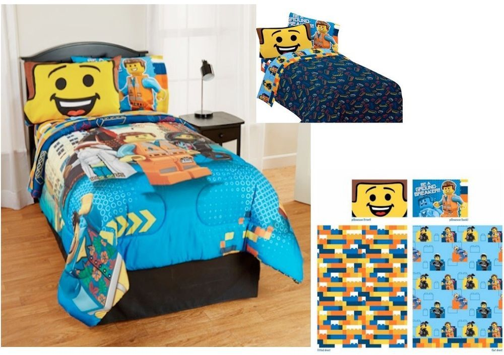 Kids Girls Boys Lego Movie Bedding Bed In A Bag Comforter Set Kids Comforter Sets Comforter Sets Bed In A Bag