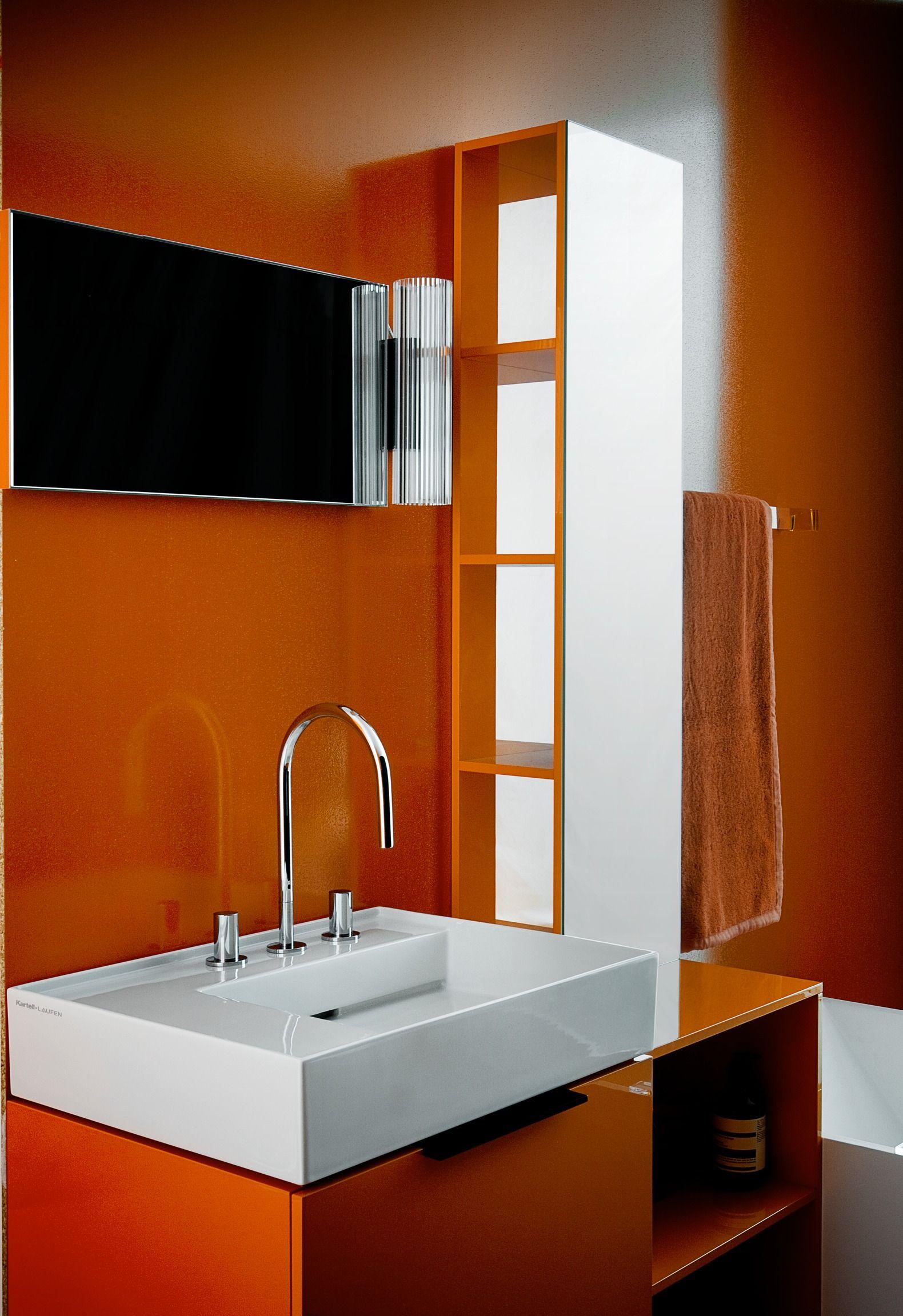 Kartell By Laufen Laufen Bathrooms Orange Bathrooms Bathroom Interior Design Modern Home Interior Design