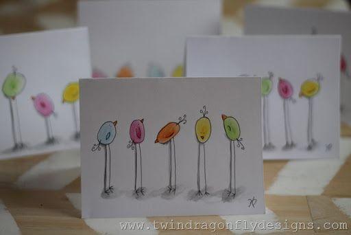 Watercolor chicks