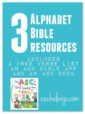 FREE printable Bible Verse list AND adorable ABC\u0027s of God Loves Me
