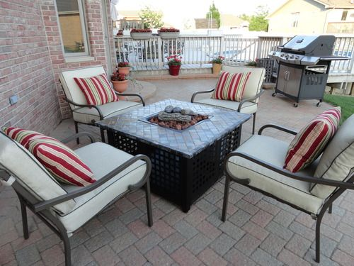 Wonderful Propane Outdoor Fire Pit Table   Blue Rhino GAD860SP Mosaic Tile Fire Table