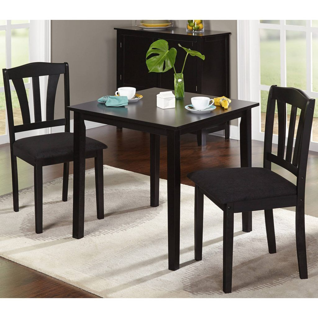 Metropolitan 3 Piece Dining Set Multiple Finishes Walmart Kitchen Table Settings Dining Room Sets Small Kitchen Tables