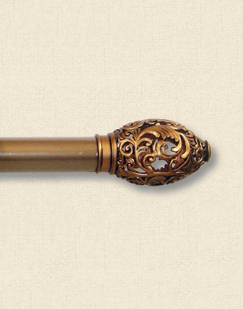 "Lace Gold Adjustable Decorative Curtain Rod - 1 1/4"" Diameter / Curtainworks.com $19.99"