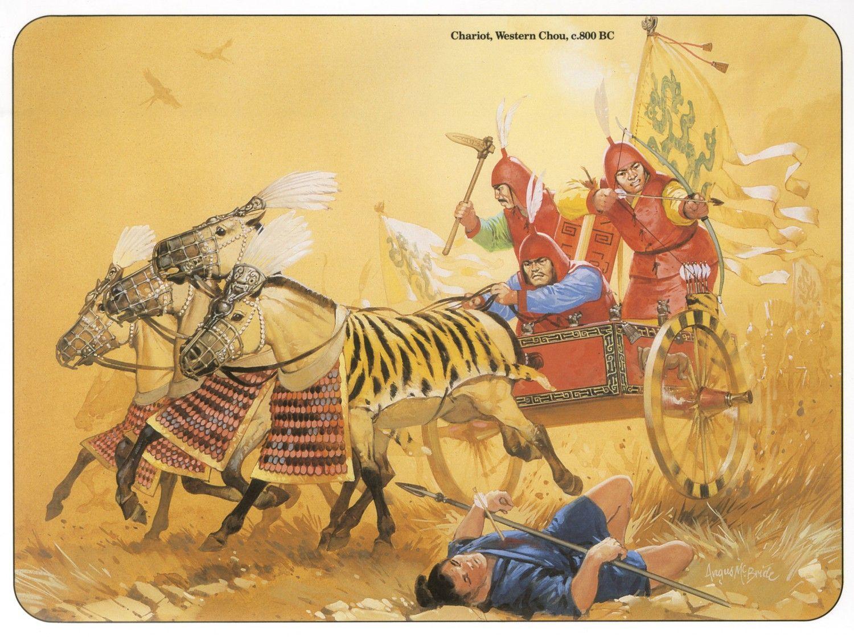 Chariots, Western Chou, 800 BC
