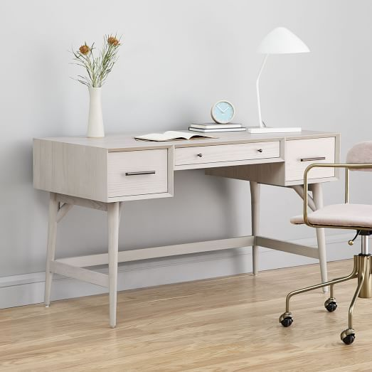 Parsons File Cabinet Desk Set In 2020 Mid Century Desk Furniture Mid Century Mini Desk