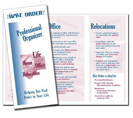 Higher Order Professional Organizer Brochure With Images