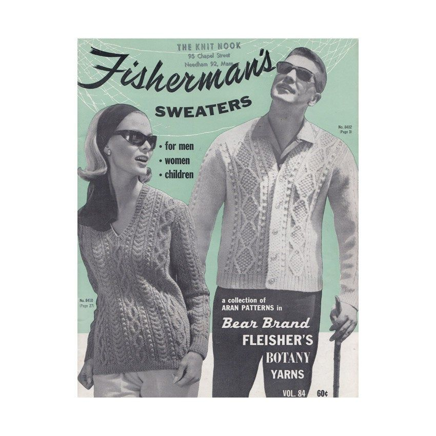Fisherman Sweater Knitting Patterns for Men Women and ...