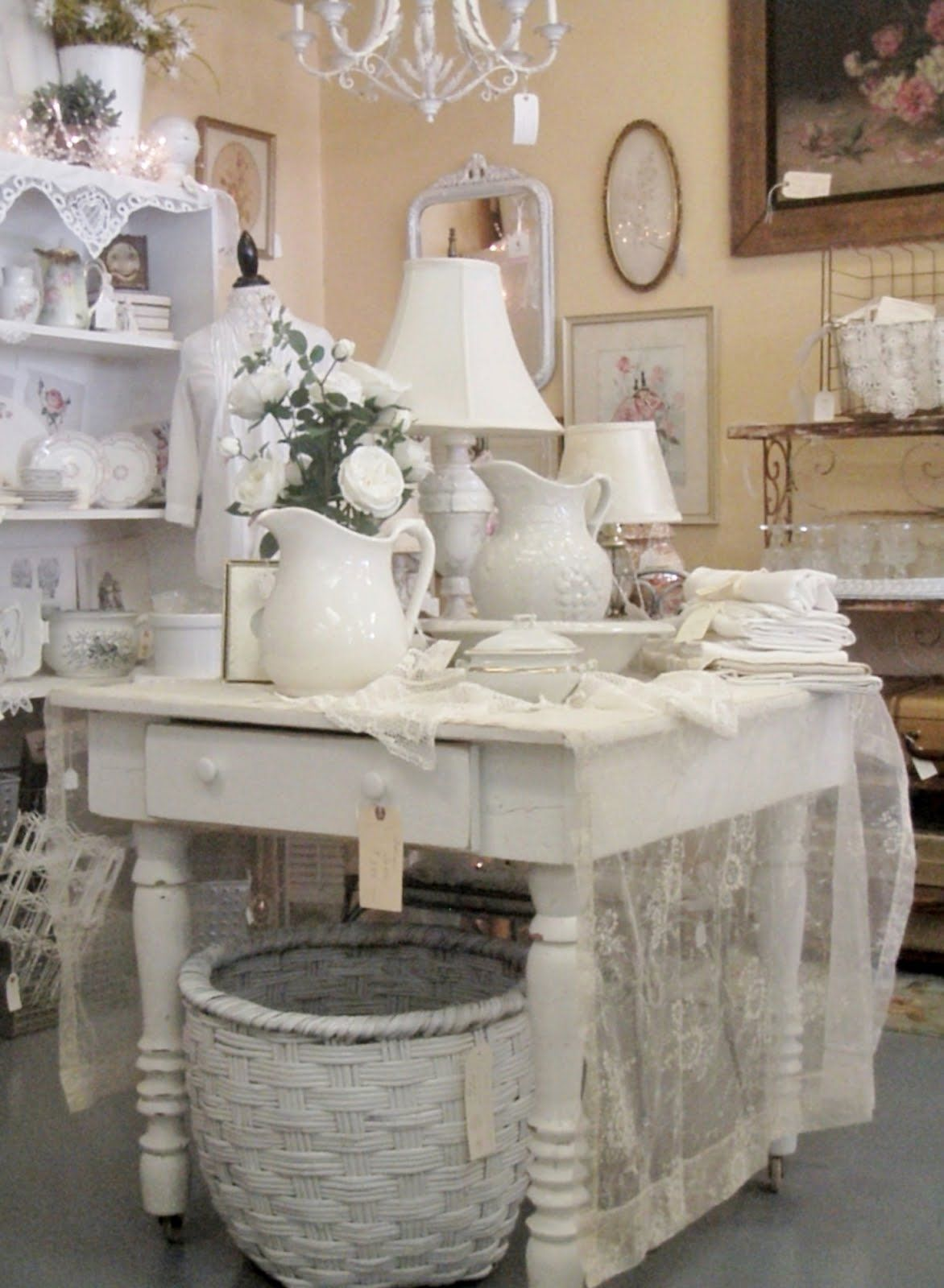 around the shop display ideals cottage shabby chic cottage style. Black Bedroom Furniture Sets. Home Design Ideas