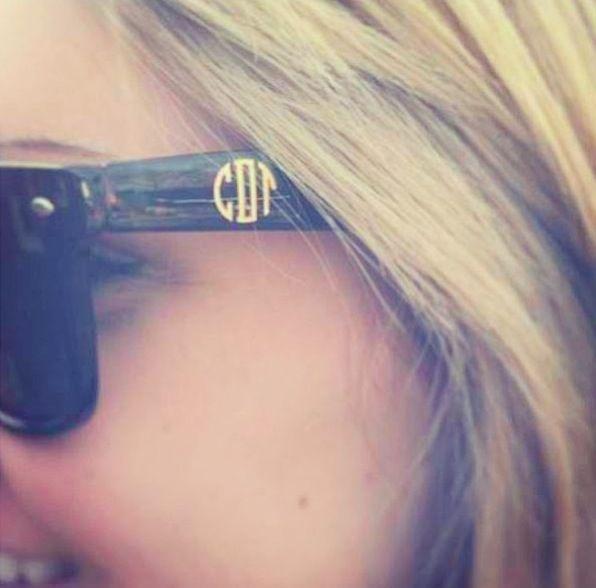 Monogrammed Sunglasses. ⚓