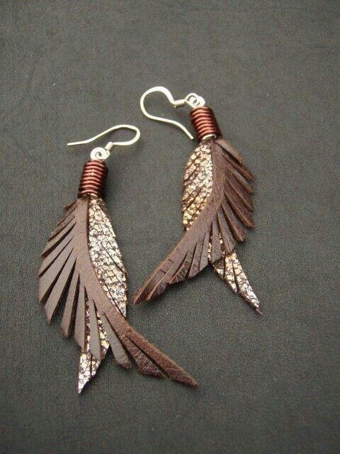 varios estilos lujo última moda pluma de cuero*   cuero   Pendientes de bricolaje, Joyería ...