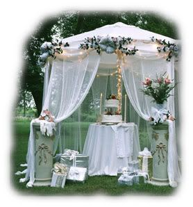 Twinkle Tent Wedding Decor