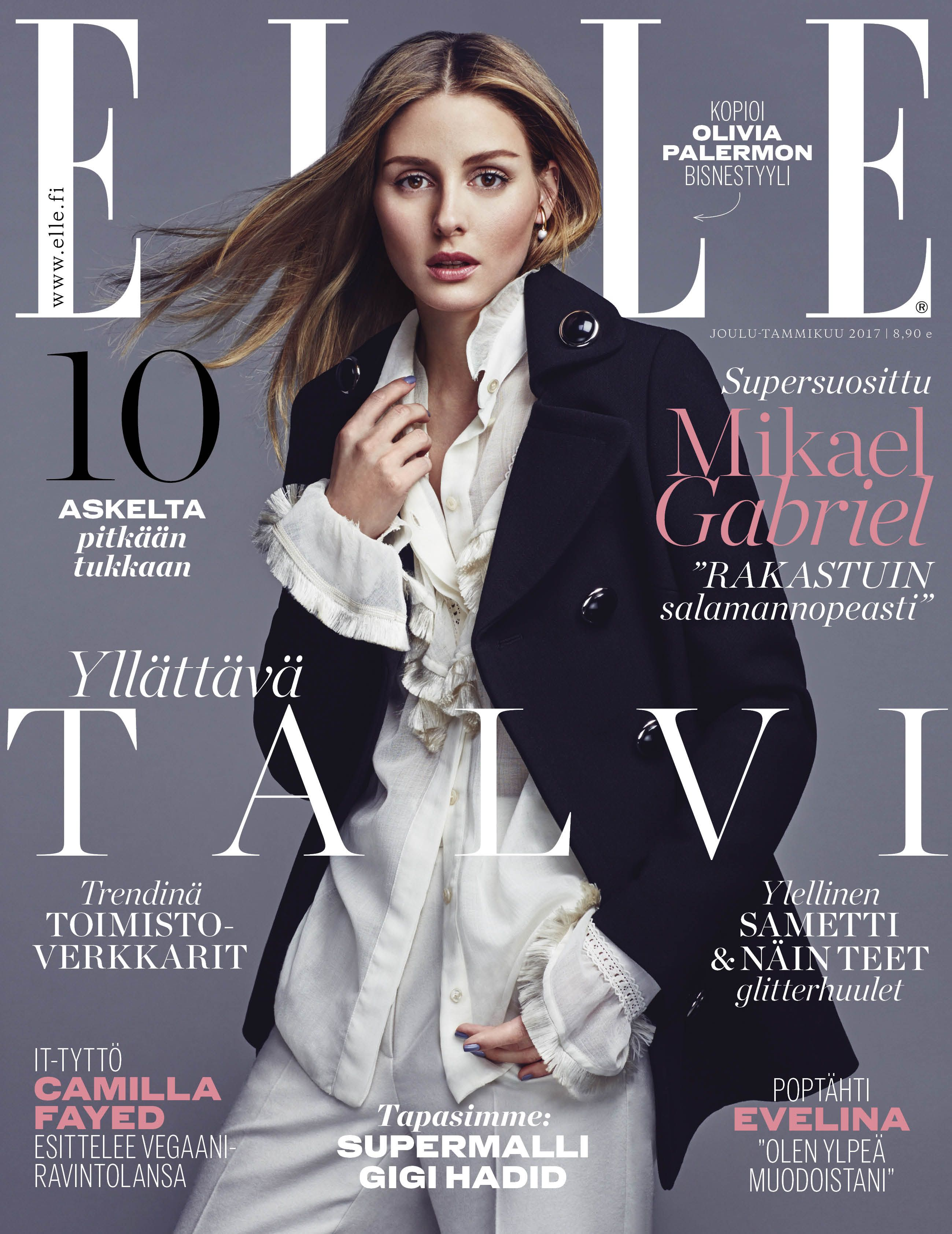 Olivia Palermo for ELLE Finland December/January 2016/2017 cover