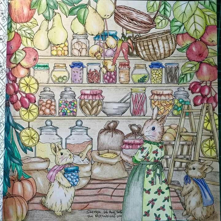 Menuet De Bonheur Coloring Book Forest Coloring Book Color Pencil Art Coloring Books