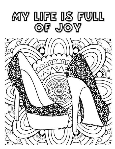 Shoes coloring page | Shoes Coloring Pages for Adults | Pinterest ...