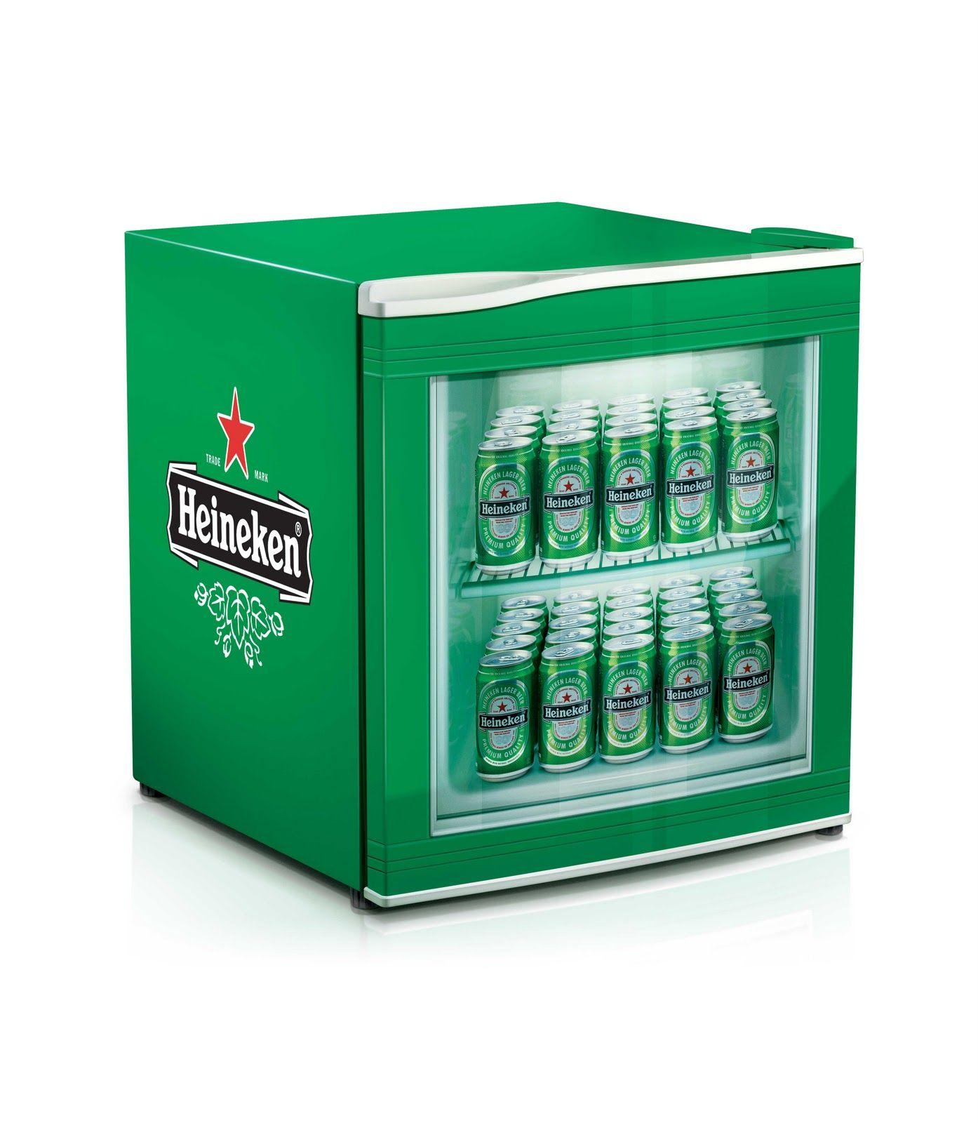 Heineken mini fridge, complete with sticker wrap to mock up full ...