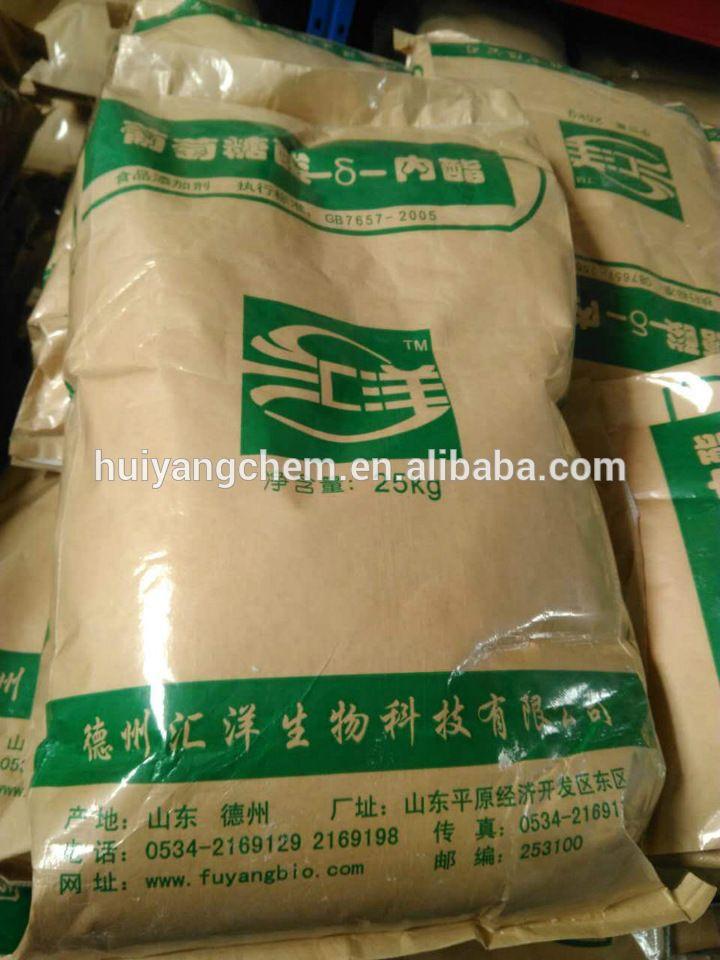 Glucono delta lactone(GDL)thickener/acidulant/CAS:90-80-2/HS