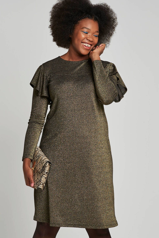 1fc435388b353b ONLY carmakoma jurk met ruffles