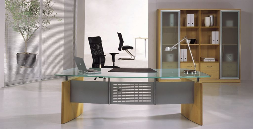 Glass Executive Desk | Modern Glass Desk | Executive Desk ...
