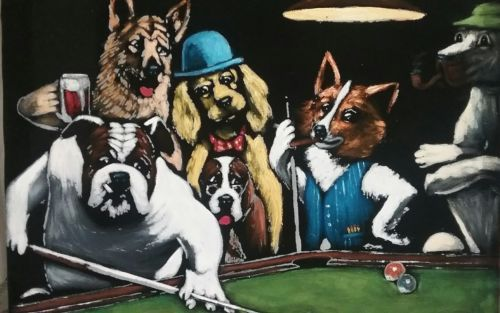 Art Windowpub Com Dog S Playing Poker Oil Painting Canvas 16x20