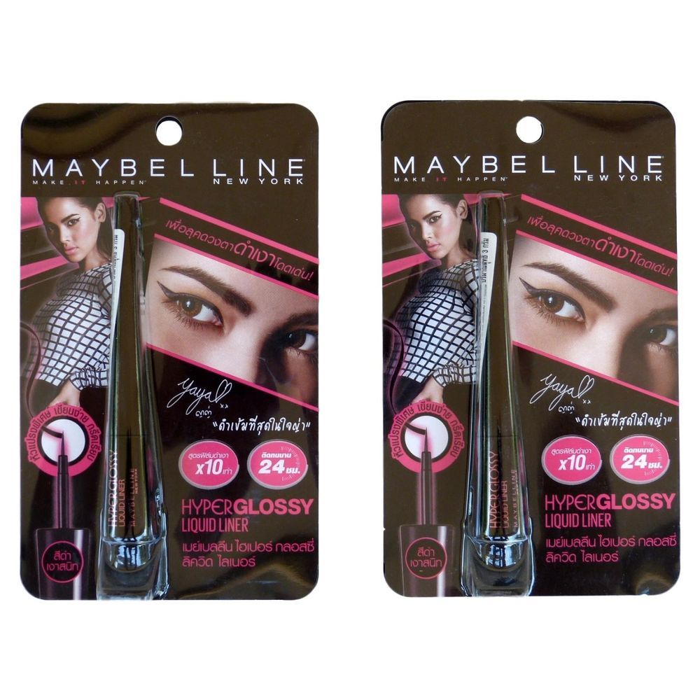 Details About Maybelline Hyper Glossy Liquid Liner Black Eyeliner 3 Ink Eye Full Size Grams Pack Of 2 Maybellinenewyork
