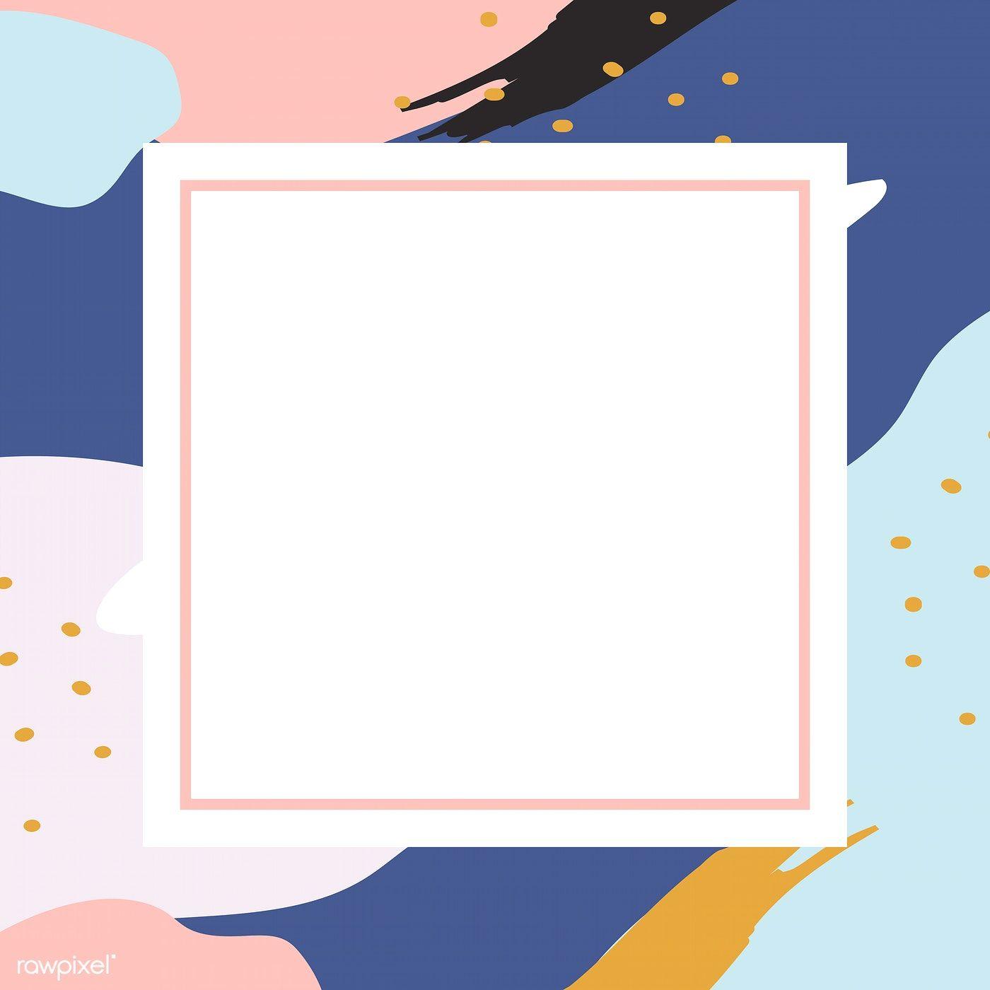 Download Premium Vector Of Blank Square Pastel Memphis Frame
