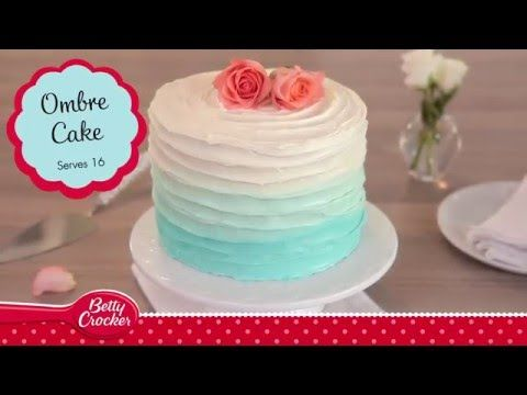 Blue Ombre Cake Recipe Betty Crocker YouTube Decorated