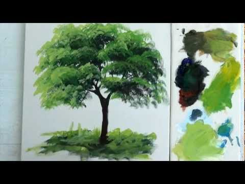 Como Pintar : Arvore / 1 - YouTube | Como pintar em 2019 ...