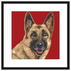 Pop Art German Shepherd, $39, now featured on Fab.