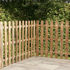 4ft X 6ft Picket Rounded Garden Fence Panels Fence Supermarket Fence Supermarket Garden