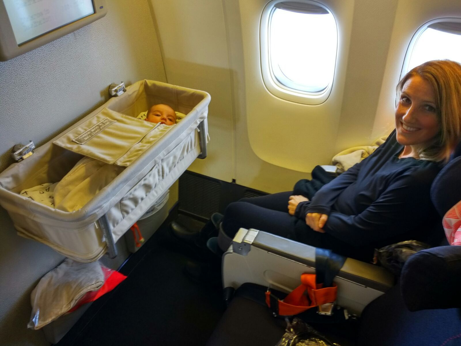Baby bed airplane - Tips For Traveling Internationally With A Newborn Infant Baby