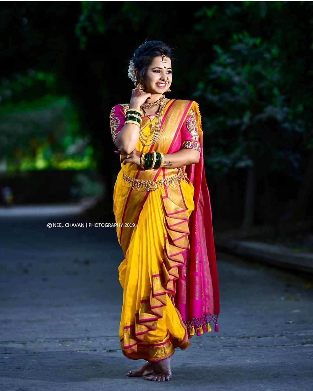7 Blouse Designs Which Will Leave You Mesmerized Saree Wearing Styles Wedding Saree Blouse Designs Saree Wearing This saree is full yellow and is a typical maharashtrian nauvari saree, draped authentically as a marathi. wedding saree blouse designs