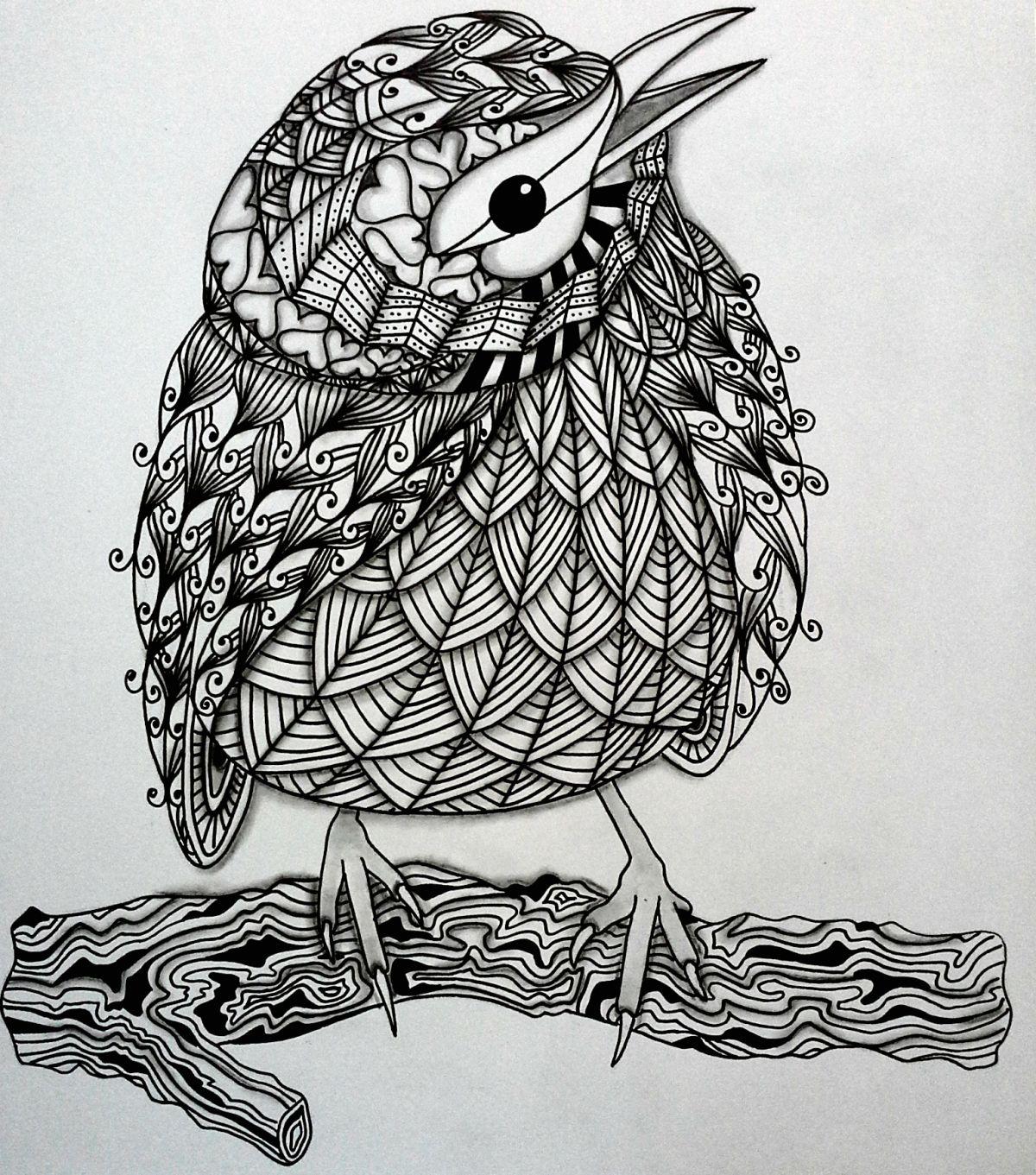 Tangleeasy Birds Design Templates for Zentangler