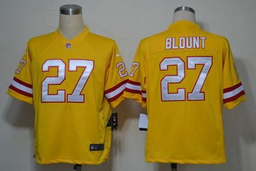 Nike Buccaneers 27 Legarrette Blount Orange Alternate Men S Embroidered Nfl Game Jersey Jersey Buccaneers Nike Jersey