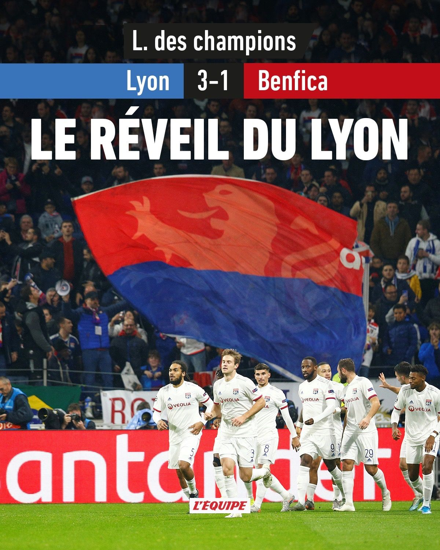 lyon benfica championsleague 20192020 Réveil