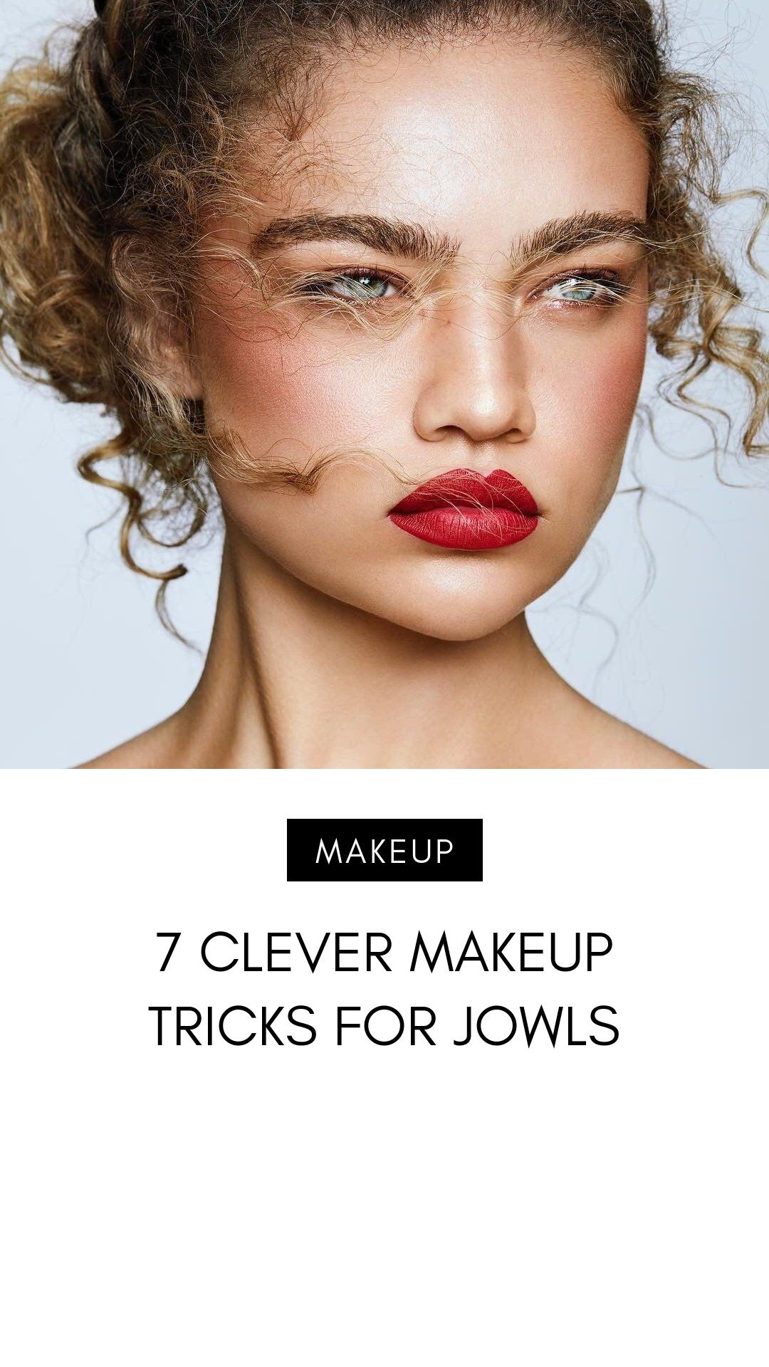 12 Clever Makeup Tricks for Jowls   Makeup tips, Jowls makeup, Jowl