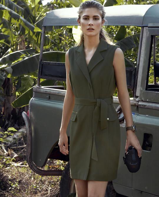 kaki-safari-jurk JBC
