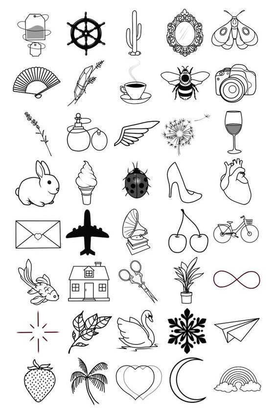 Melisa Dimieri Adli Kullanicinin Small Meaningful Tattoos For Women Panosundaki Pin Dovme Mini Tattoos Doodle Desenleri