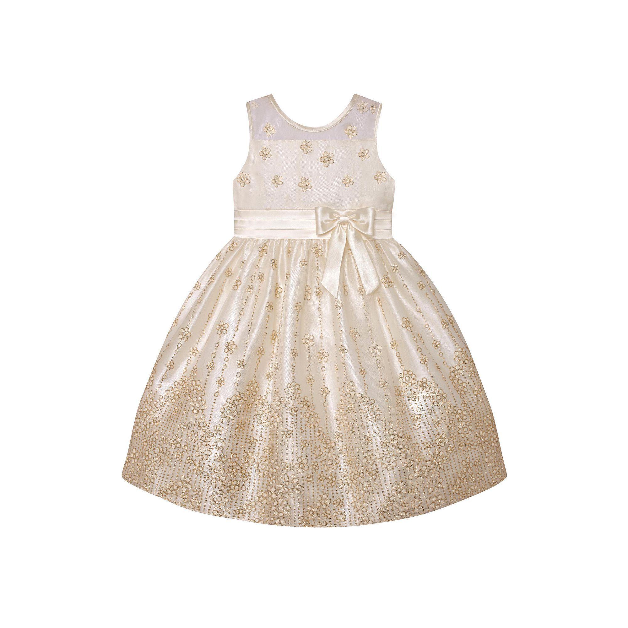 b019a0ce084 Girls 7-16   Plus Size American Princess Glitter Flower Illusion Dress