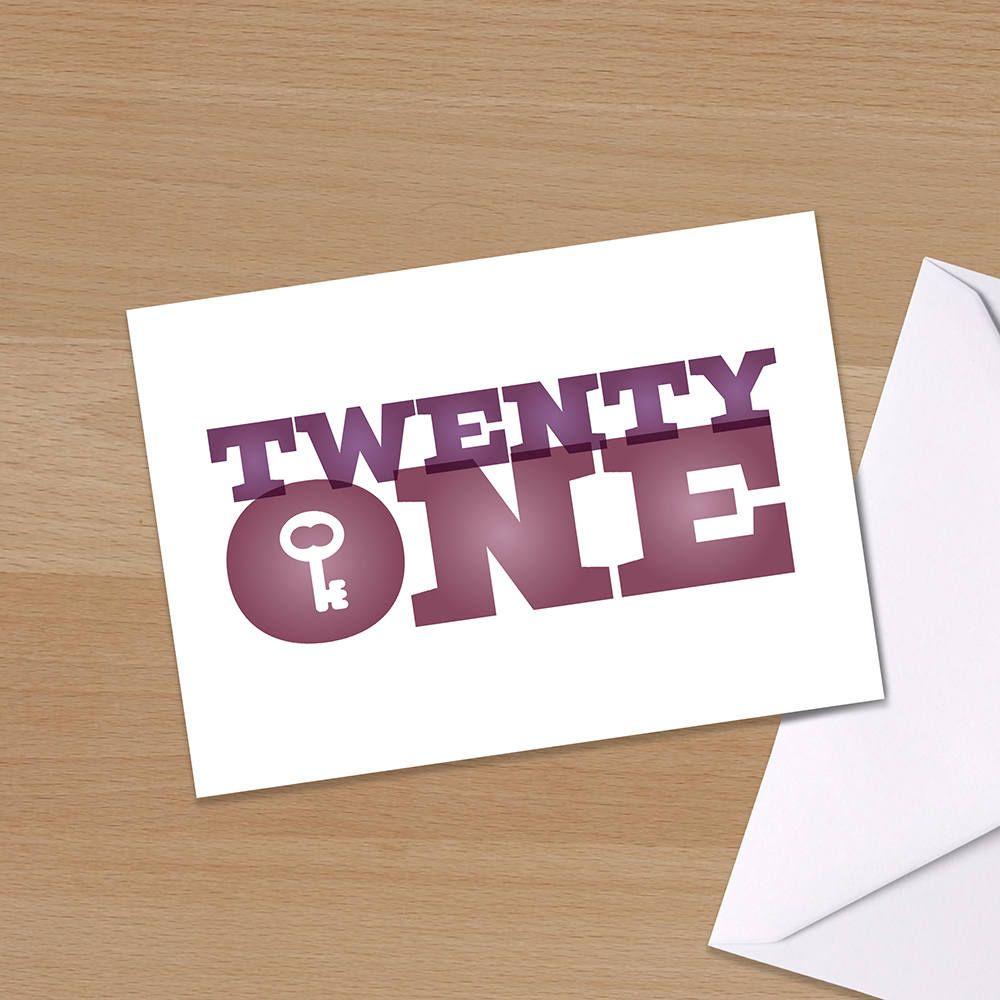 21st birthday card twenty one twenty first happy
