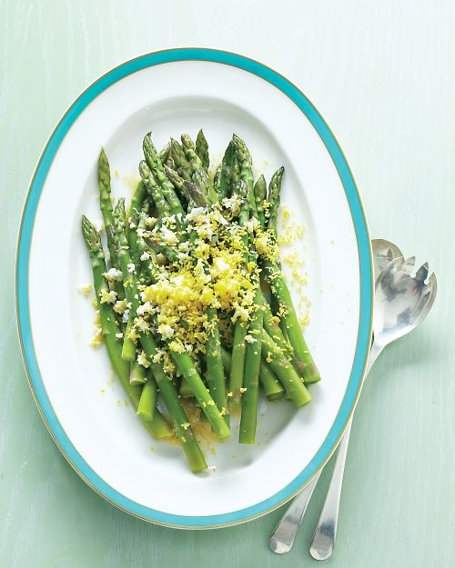 Asparagus Mimosa Recipe. Press a peeled hard-cooked egg through a fine, stainless steel sieve