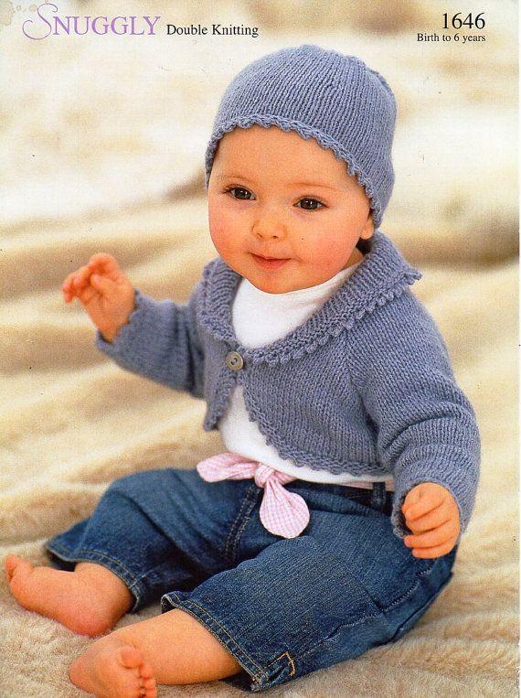 baby childs childrens bolero knitting pattern PDF girls ...